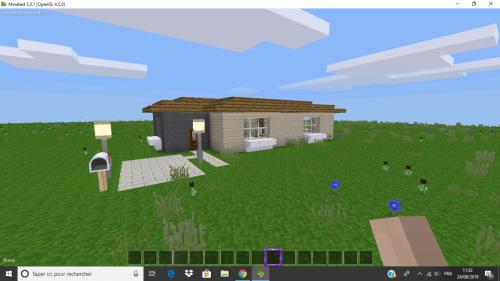A tiny suburban house